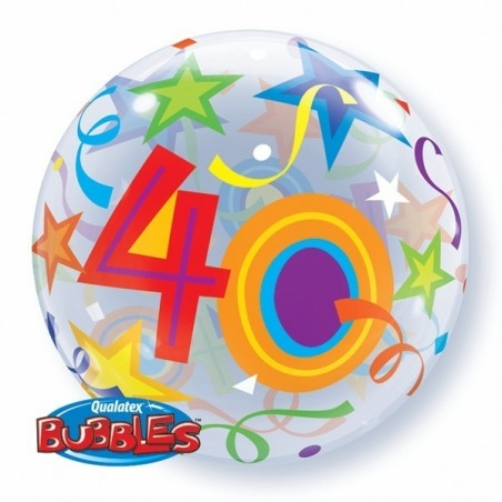 22 inch-es 40 Brilliant Stars Szülinapi Számos Bubble Lufi