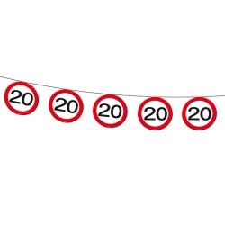 20-as Sebességkorlátozó Szülinapi Parti Füzér - 12 m