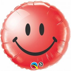 18 inch-es Smile Face Red Héliumos Fólia Lufi