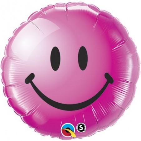 18 inch-es Smile Face Wild Berry Héliumos Fólia Lufi