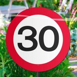 30-as sebességkorlátozós kerti tábla