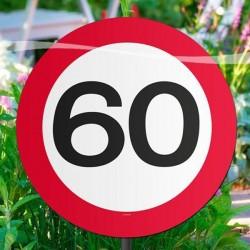 60-as sebességkorlátozós kerti tábla