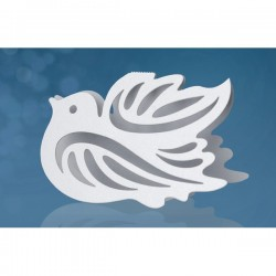 Fehér Galamb Ültetőkártya - 7,5 cm x 5 cm, 10 db-os