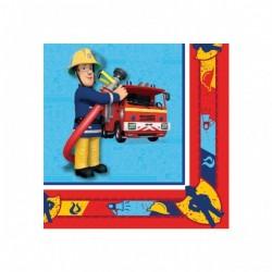 Fireman Sam - Sam a Tűzoltó Parti Szalvéta - 33 cm x 33 cm, 20 db-os
