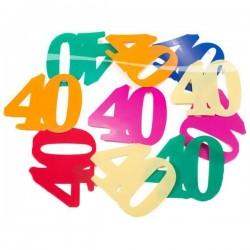 40-es XL Méretű Számos Szülinapi Konfetti