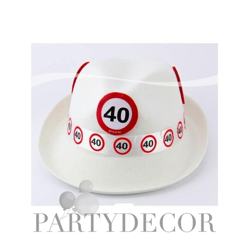 40-es Sebességkorlátozó Születésnapi Parti Kalap 3ca03da3b0