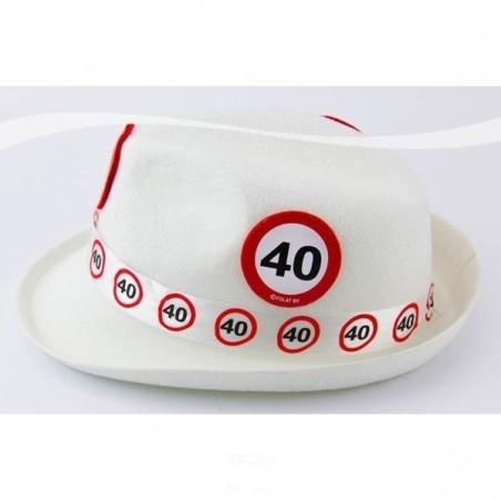 40-es Sebességkorlátozó Születésnapi Parti Kalap