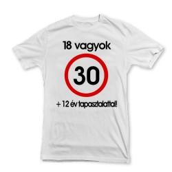 Nem vagyok 30... Sebességkorlátozó Születésnapi Számos Póló - XL-es