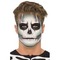 Sötétben Világító Csontváz Make-Up Szett