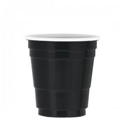 Fekete Műanyag Feles Parti Pohár - 59 ml, 20 db-os