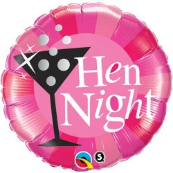 Lánybúcsú Fólia Lufi Rózsaszín Hen Night Felirattal - 46 cm