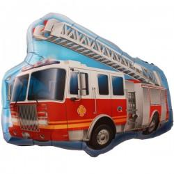 Tűzoltó Teherautós Fólia Lufi - 91 cm