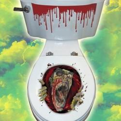 Ijesztő WC Dekoráció Halloween-re