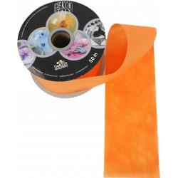 Narancssárga Dekorációs Szalag, 3,2 cm, 50 méteres