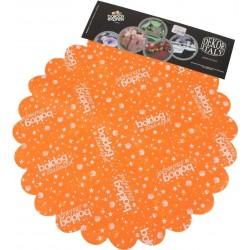 Boldog Szülinapot Feliratú Narancssárga Szülinapi Kerek Dekorációs Textil - 48 cm-es