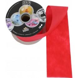 Piros Dekorációs Szalag, 10 cm X 1 méter