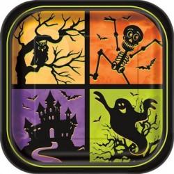 Kísértetház Tányér Halloween 8 db-os