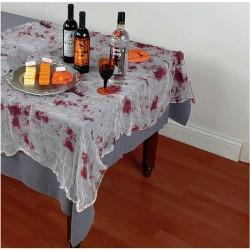Véres Hatású Géz Asztalterítő - 150 cm x 210 cm