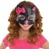 Fekete Pink Macska Álarc