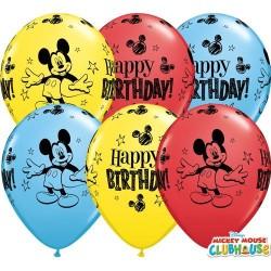 28 cm-es Happy Birthday feliratú Mickey Egér gumi lufi