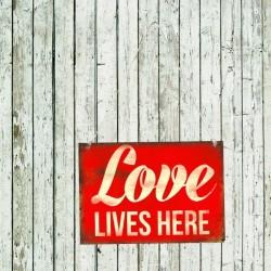 Nosztalgia Tábla Kép - Love Lives Here