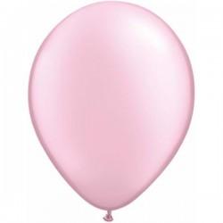 Gyöngyház Rózsaszín Kerek Gumi Lufi - 13 cm
