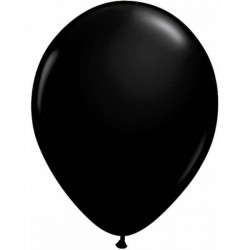 Fekete Kerek Gumi Lufi - 13 cm-es