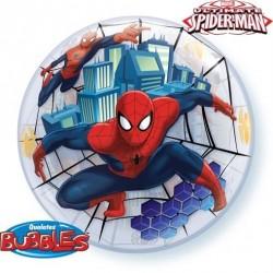 Pókemberes ( Spiderman) bubbles lufi 56 cm-es