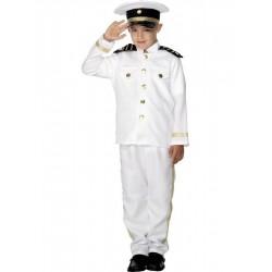 Fehér Hajós Kapitány Kisfiú Jelmez - M