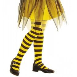 Méhecske harisnyanadrág - sárga - fekete csíkos 4-6 éveseknek