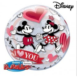 Mickey & Minnie I Love You Szerelmes Lufi - 56 cm-es