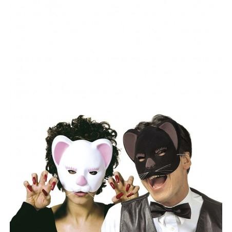 Fekete És Fehér Macska Álarc - 1 db