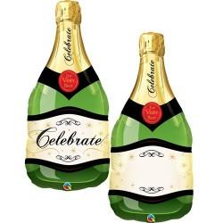 39 inch-es Pezsgősüveg - Champagne Bottle Celebrate Fólia Lufi