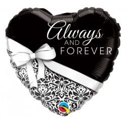 Always and Forever Esküvői Szív Fólia Lufi 46 cm