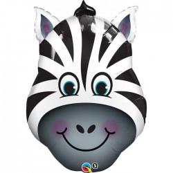 32 inch-es Zany Zebra - Zebra Fej Fólia Lufi