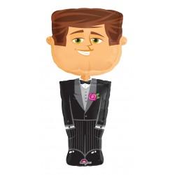 Sétáló Vőlegény - Groom Esküvői Fólia Lufi