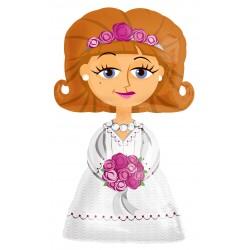 Sétáló Menyasszony - Bride Esküvői Fólia Lufi
