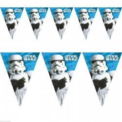 Star Wars Rohamosztagos Parti Zászlófüzér - 230 cm