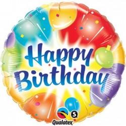 18 inch-es Birthday Balloons Ablaze Blue Szülinapi Héliumos Fólia Lufi