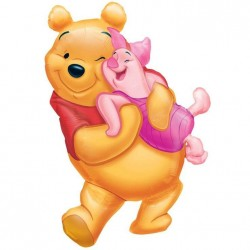Micimackó - Big Pooh Hug - Mini Shape Fólia Lufi