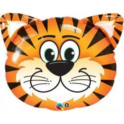 14 inch-es Tickled Tiger - Tigris Fej Fólia Lufi