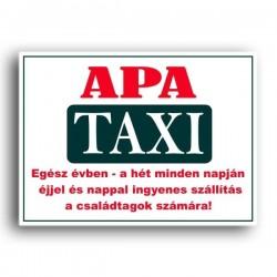 Apa Taxi - Vicces rendszám
