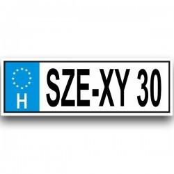 SZE-XY 30 - Vicces rendszám
