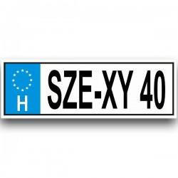 SZE-XY 40 - Vicces Rendszám