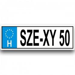 SZE-XY 50 - Vicces rendszám