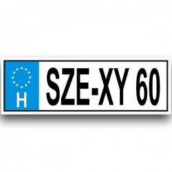 SZE-XY 60 - Vicces rendszám