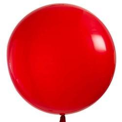 Méteres piros ( red ) kerek latex lufi