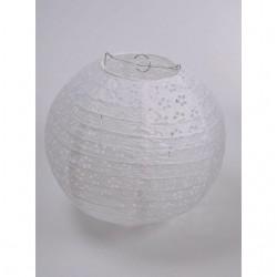 Csipkés papír lampion esküvőre 40 cm