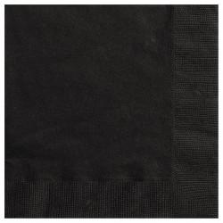 Fekete Papír Parti Szalvéta - 20 db-os
