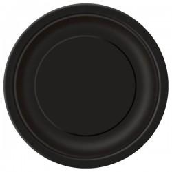 Fekete Papír Parti Tányér - 8 db-os